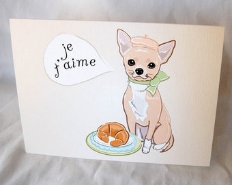 Chihuahua in Love Greeting Card