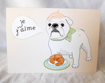 Bulldog in Love Greeting Card