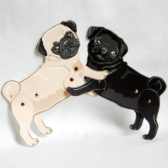 Pug Paper Dolls - Set of 2