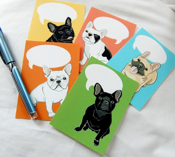 Convo Frenchie Cards - Eco-friendly Set of 5 - Jumbo Size