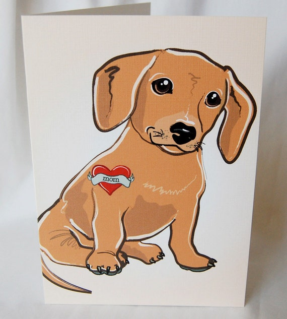 Custom Doxie Tattoo Greeting Card