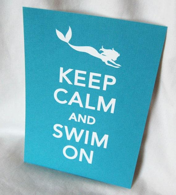 Mermaid Keep Calm Print - 5x7 Eco-friendly Size