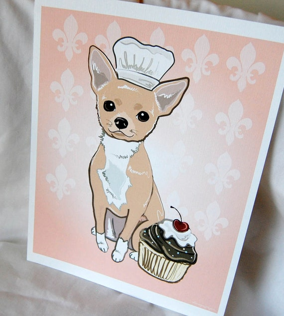 Cupcake Chihuahua - 8x10 Eco-friendly Print