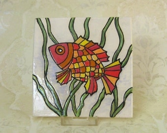 Decorative Colorful Fish Tile