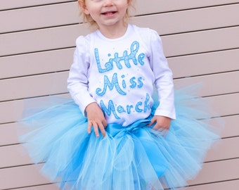 Little Miss March Birthday Shirt, March Birthday Party, March Birthstone, Girl Birthday Shirt, Birthday Shirt for Girls