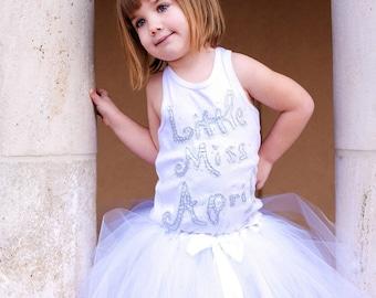 Birthday Shirt for Girls, April Birthstone Shirt, Birthday Party, Girl Birthday Shirt, Little Miss April, Made to Order