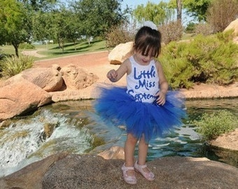 Girl Birthday Shirt, September Birthday Party, Sapphire Birthstone Shirt, Made To Order, Birthday Shirt for Girls, Birthday Photo Shoot