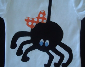 Spider Shirt, Halloween Shirt for Girls, Birthday Shirt for Girls, Story Book Rhymes Party, Baby Shower Gift, Itsy Bitsy Spider Birthday
