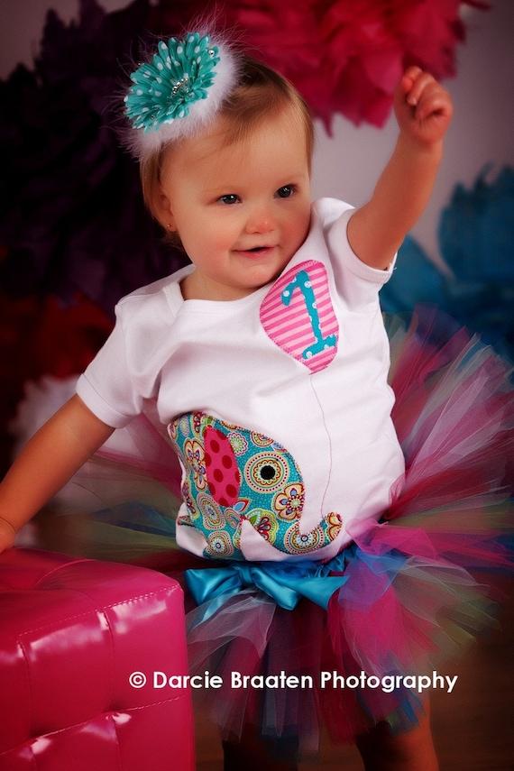 Elephant Birthday Shirt for Girls, Girl Birthday Shirt, 1st Birthday Shirt, Birthday Shirt for Girls, Baby Girl Clothes, First Birthday