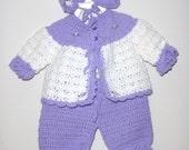 Crocheted 4 Piece Pram Set