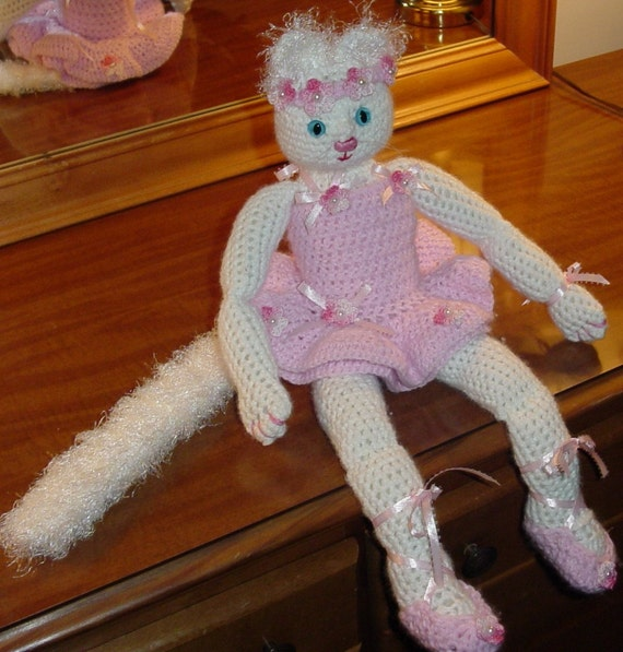 Crocheted Ballerina Cat