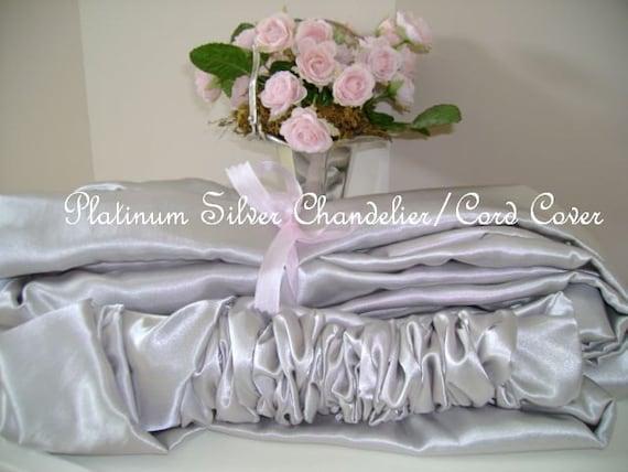 platinum silver chandelier cord cover. Black Bedroom Furniture Sets. Home Design Ideas