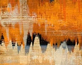 Richter VI - 8 x 8 Fine Art Print of Original Contemporary Abstract Painting - Free US Shipping