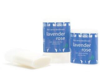 Lavender Rose Deodorant - Aluminum-Free - Travel Size