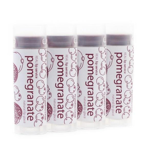 Pomegranate Tinted Lip Glace - Tinted Lip Balm - Lip Tint - Natural - Clearance