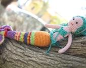 Crochet Mermaid Doll,12 inch Ariel Little Mermaid inspired, amigurumi mermaid doll, baby shower, Pisces Zodiac, Handmade Turquoise Mermaid
