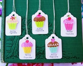 Hello Cupcake Mini Tags
