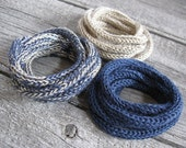 ChAmPagNe.....  Knitted Cord Bracelets - Set of three in Champagne Shades