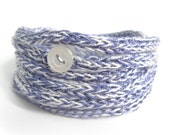 Knitted bracelet purple eco friendly bracelet
