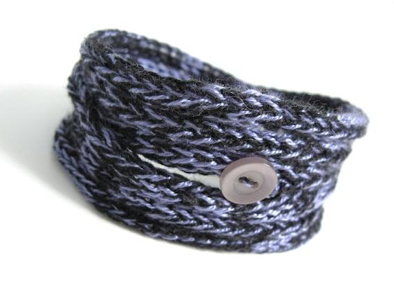 Bangle Knitted Cord Bracelet - Purple Shades