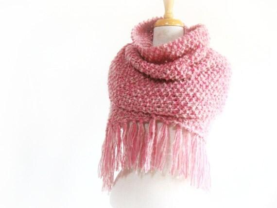 PinK..... Big scarf or wool shawl - On sale - Free shipping