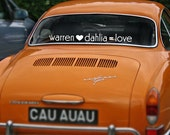 You Heart Me Equals Love Car Decal