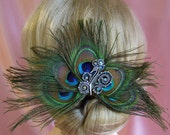Peacock Feather Fascinator Peacock Wedding Bridal Accessory