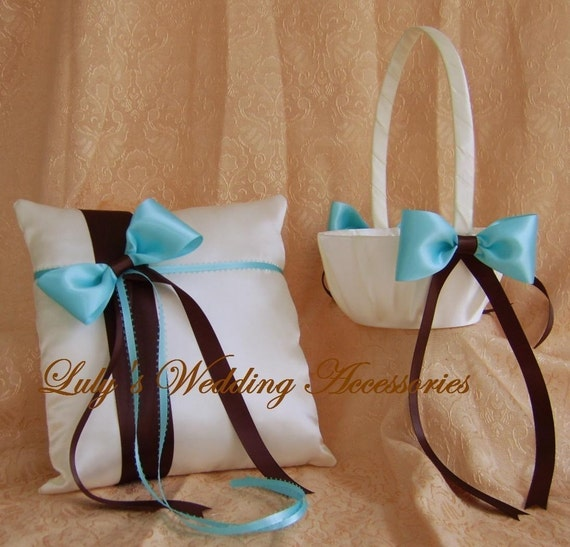 Tiffany Blue And Chocolate Brown Wedding Colors Flower Girl