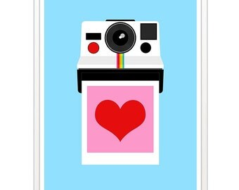 Polaroid camera print - Instant Love - 50 x 70 cm large photography poster
