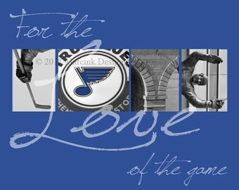 "St. Louis Blues ""For the Love of the Game"" Photographic Print"