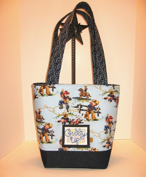 Cowboy Diaper Bags : Little cowboy giddy up baby diaper bag tote by thehaypatch
