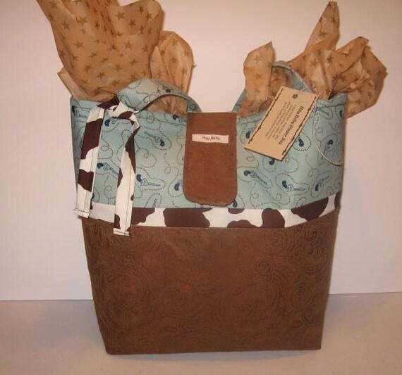 Cowboy Diaper Bags : Cowboy diaper bag tote faux tooled leather