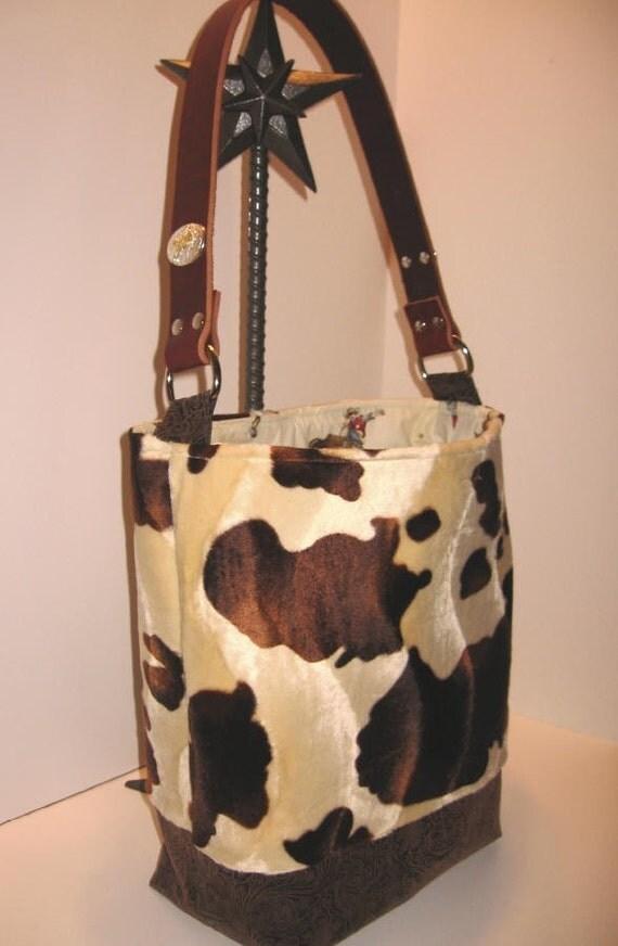 Cowboy Diaper Bags : Cowboy baby faux cowhide bullrider diaper bag tote by