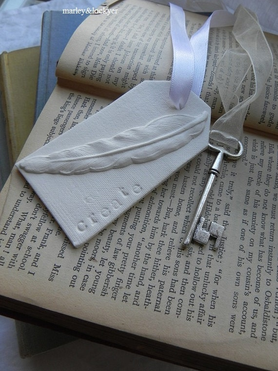 Inspire Series- Create Feather clay 3D tag