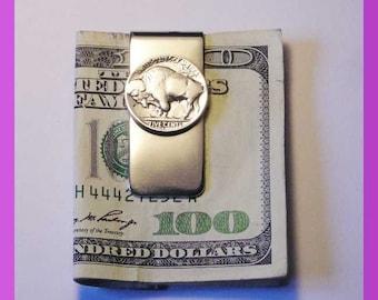 Buffalo Nickle Money Clip Tails