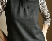 wool shell - dark grey