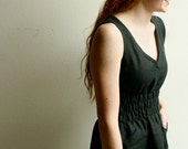 fiji dress - black linen (L)