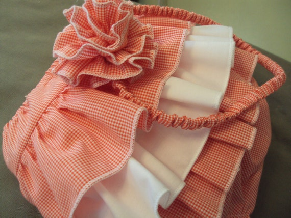 NOW ON SALE Diaper Cover with Headband - Ruffled Infant Bloomers