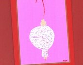 Festive Ornament Note Card - Artist with Autism