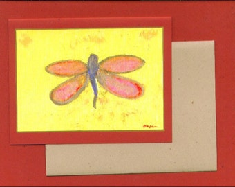 Dragonfly Note Card Invitation Blank Cards