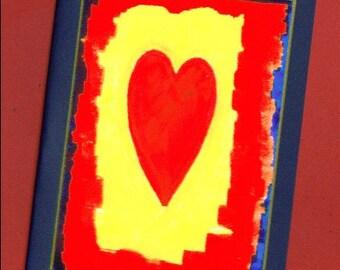 Sending My Love - Heart Note Card