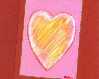 Heart Fine Art Note Card