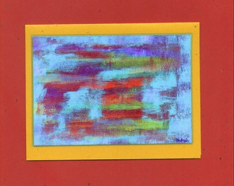Untitled Number 404 Abstract Art Note Card