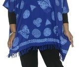 BLUE CELTIC TIDES Plus Size Tunic 1X to 5X