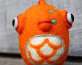 One Little Needle Felted Wool Goldfish Toy  MADE TO ORDER