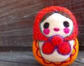 Matryoshka  Russian Wooly Egg Doll Made to Order