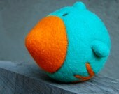 Needlefelted Bluebird Ball with Bell Made to Order