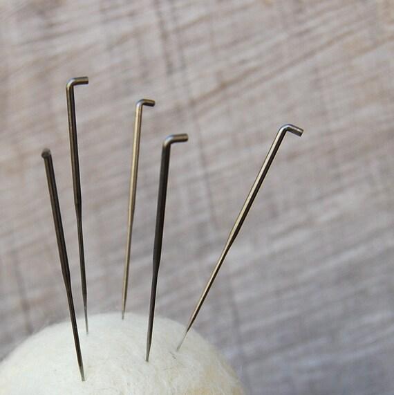 5 Extra Needle Felting Needles 38 gauge star