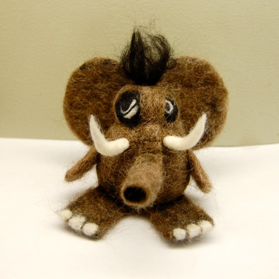 Wooly Mammoth  WOOLY Toy One of a Kind
