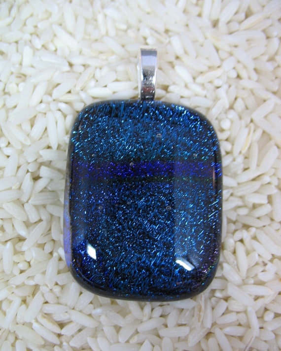 Fused Dichroic Glass Focal Pendant